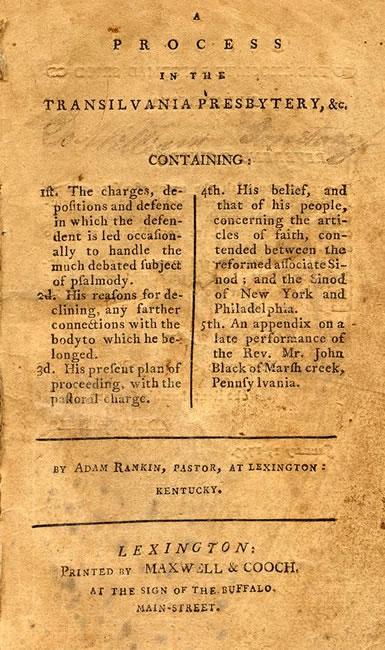 Rankin, Adam, A Process in the Transilvania Presbytery Title Page.jpg