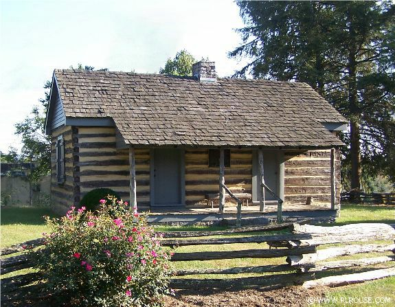 The Parson Cummings Cabin, originally located two miles, was restored and relocated to its present location near the Sinking Spring Cemetery.