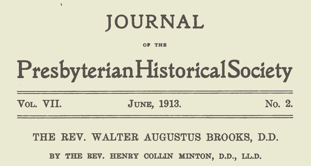 Minton, Henry Collin, The Rev. Walter Augustus Brooks Title Page.jpg