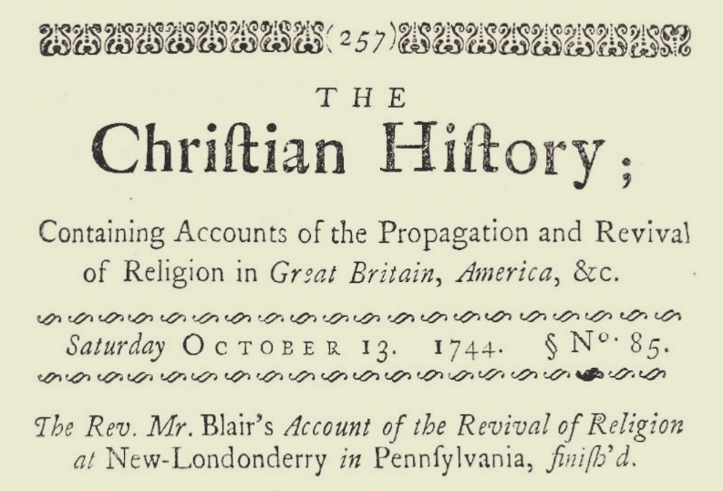 Blair, Samuel Jacob, Account of the Revival of Religion Title Page.jpg