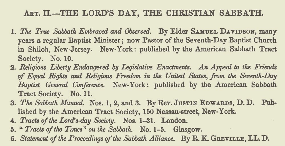 Moore, Thomas Verner, The Lord's Day, The Christian Sabbath Title Page.jpg
