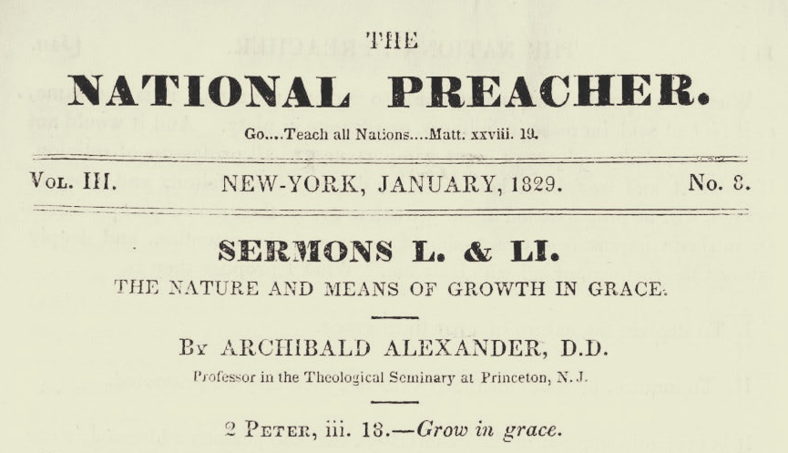 Alexander, Archibald, The Nature and Means of Growth in Grace Title Page.jpg