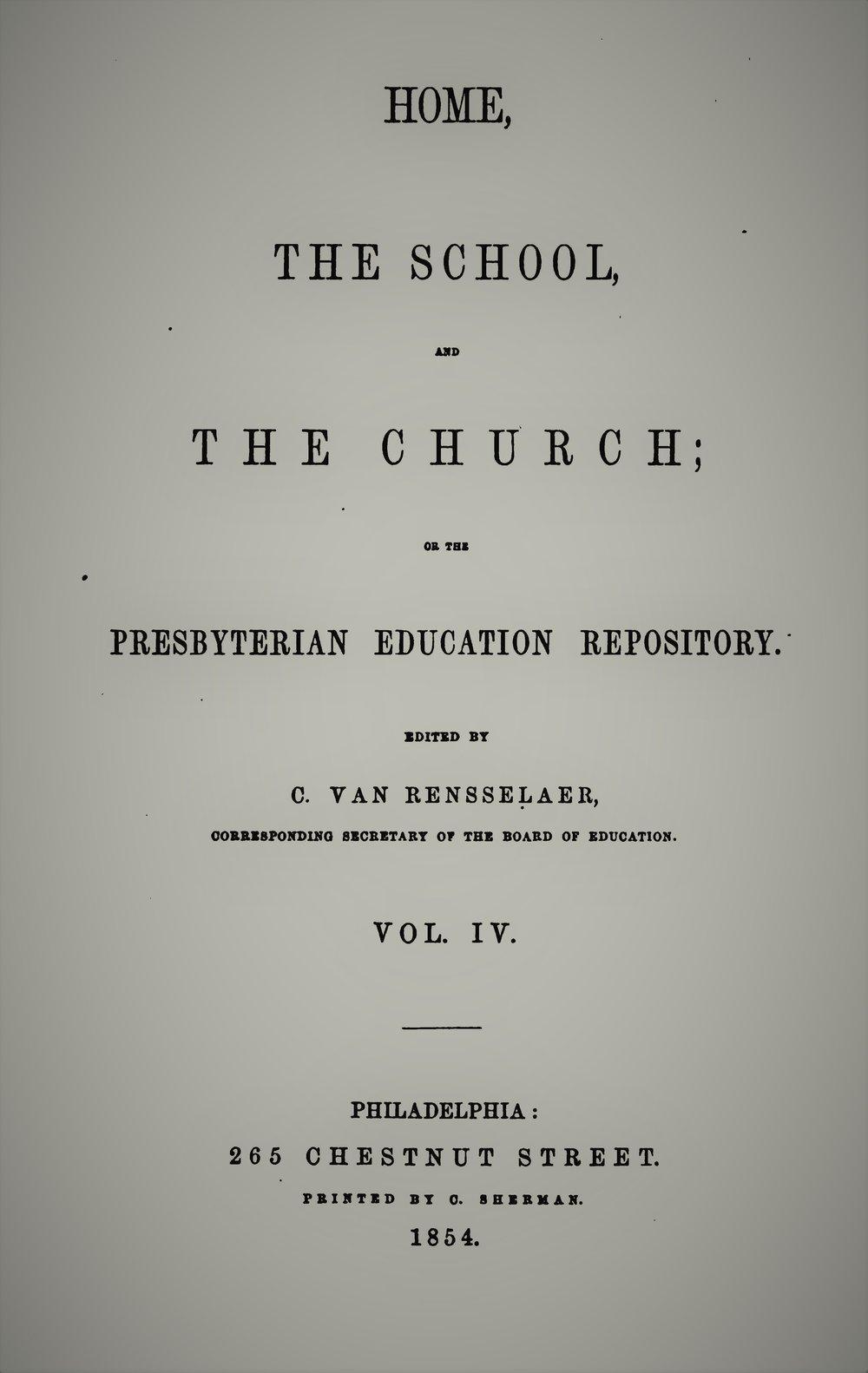 Van Rensselaer, Home School Church Vol 4.jpg