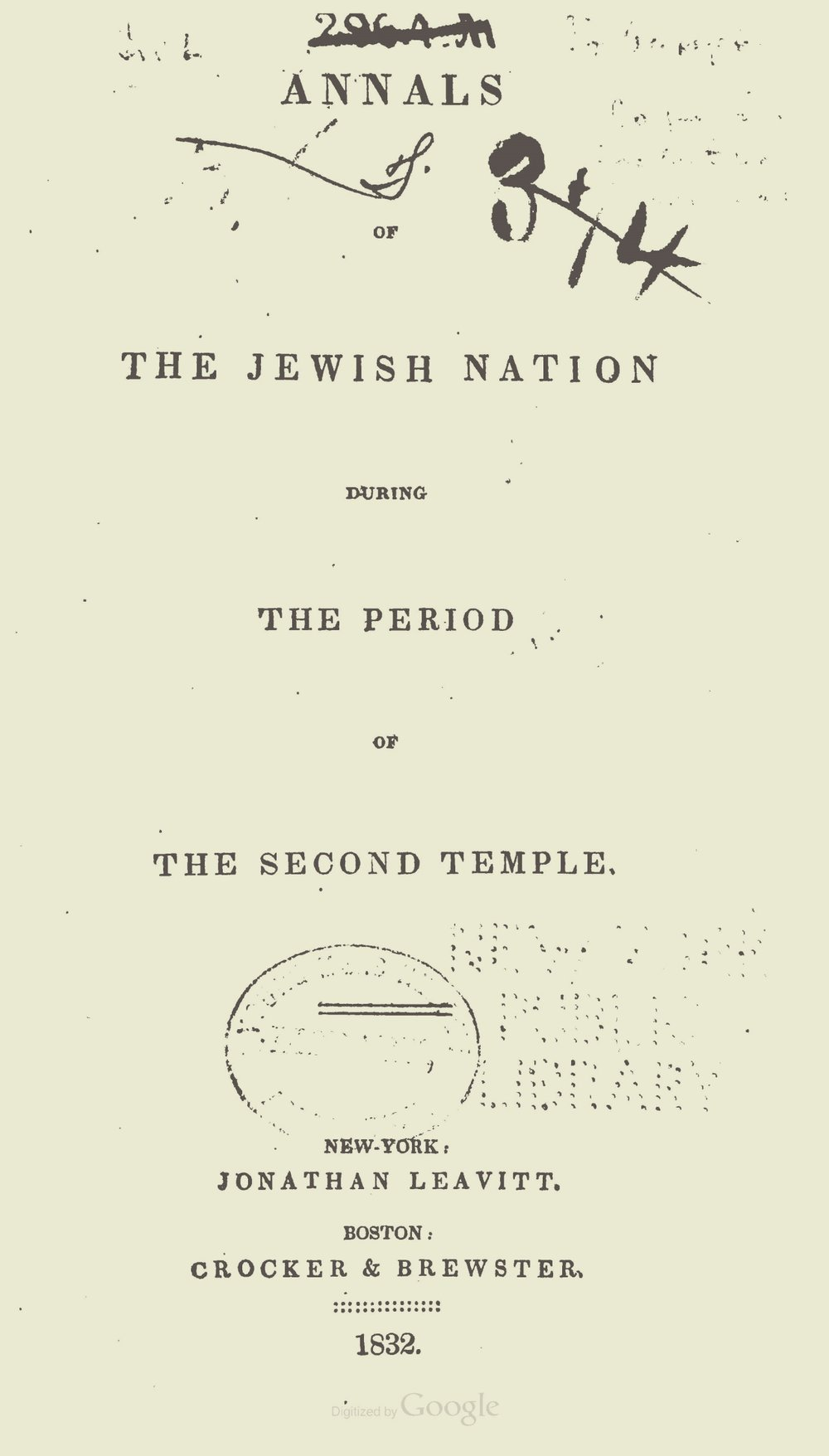 Alexander, Archibald, Annals of the Jewish Nation Title Page.jpg