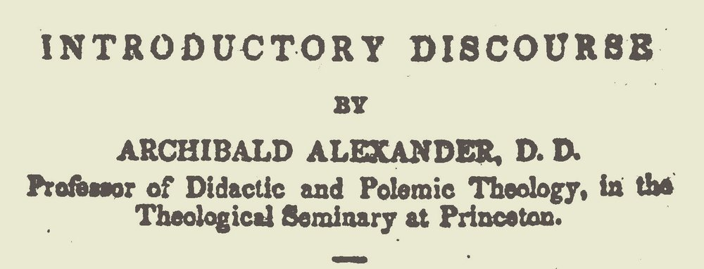 Alexander, Archibald, Introductory Discourse to A Memoir of the Rev. Joseph W. Barr Title Page.jpg