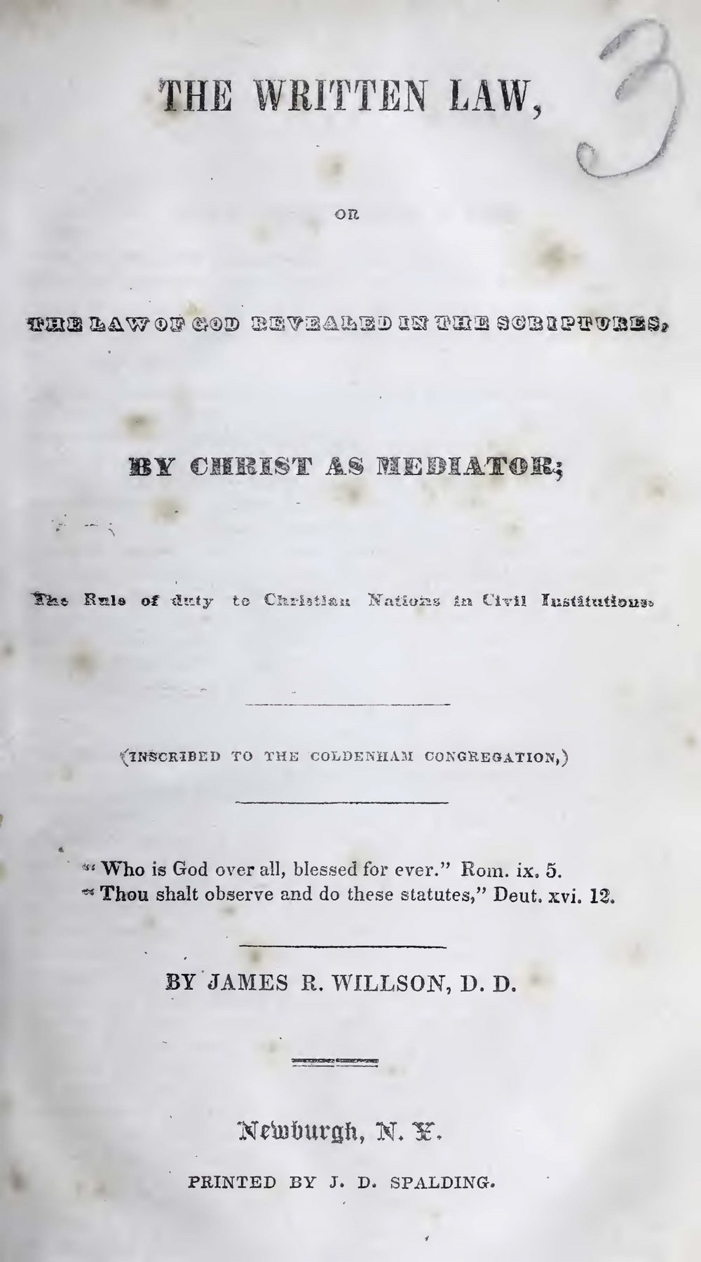 Willson, James Renwick, The Written Law Title Page.jpg