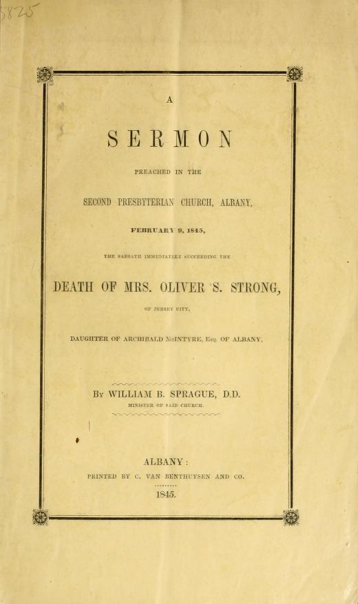 Sprague, Sermon on Death of Mrs Oliver Strong.jpg