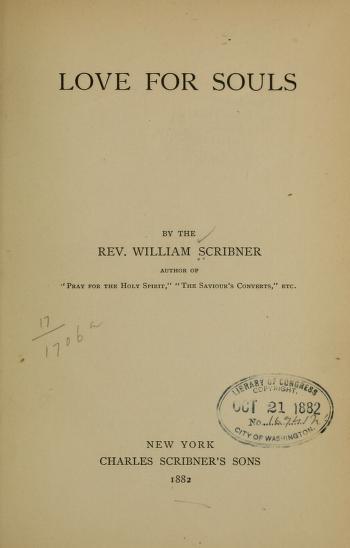 Scribner, Love for Souls.jpg