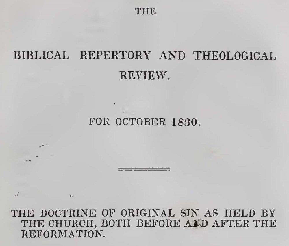 Alexander, Archibald, The Doctrine of Original Sin Title Page.jpg