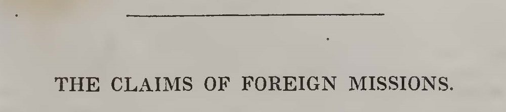 Breckinridge, John, The Claims of Foreign Missions Title Page.jpg
