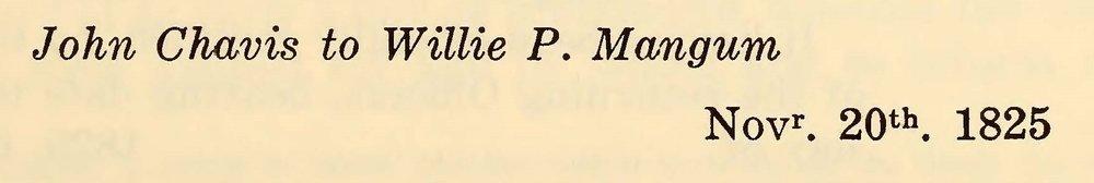 Chavis, John, November 20, 1825 Letter to Willie P. Mangum Title Page.jpg
