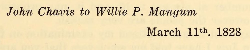 Chavis, John, March 11, 1828 Letter to Willie P. Mangum Title Page.jpg
