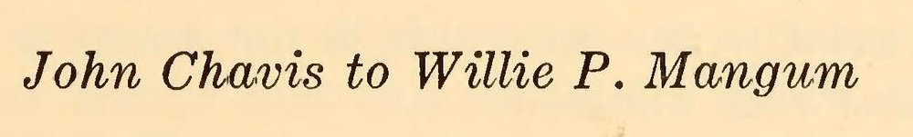 Chavis, John, July 21, 1832 Letter to Willie P. Magnum Title Page.jpg