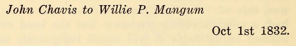Chavis, John, October 1, 1832 Letter to Willie P. Mangum Title Page.jpg