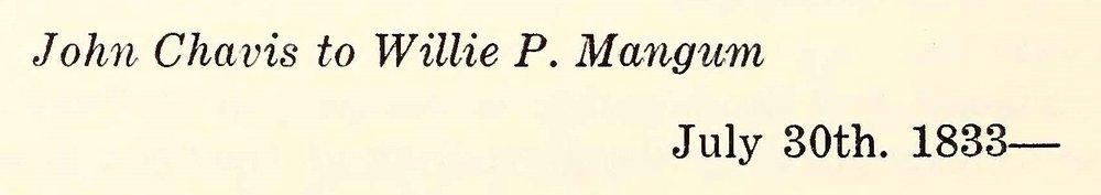 Chavis, John, July 30, 1833 Letter to Willie P. Mangum Title Page.jpg