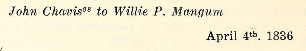 Chavis, John, April 4, 1836 Letter to Willie P. Mangum Title Page.jpg