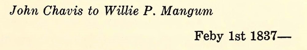Chavis, John, February 1, 1837 Letter to Willie P. Mangum Title Page.jpg