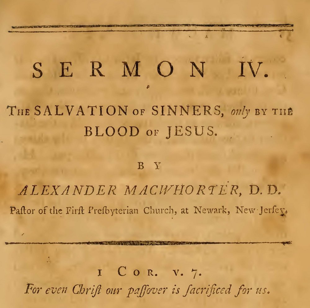 MacWhorter, Alexander, Salvation of Sinners, Only By the Blood of Jesus Title Page.jpg