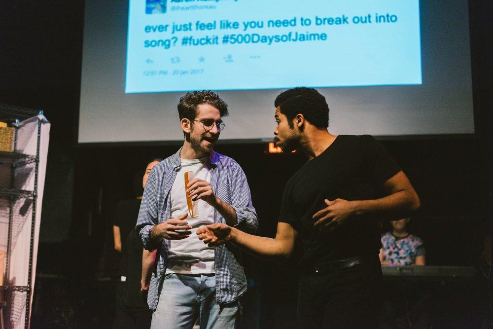 brunch theatre bts // Jesse Weil (left) & Darien LaBeach (right)