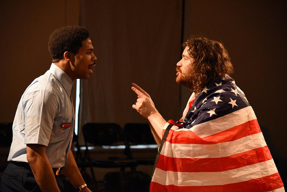 "Darien LaBeach (left), Carson Coughlin in ""The Untold Yippie Project"""