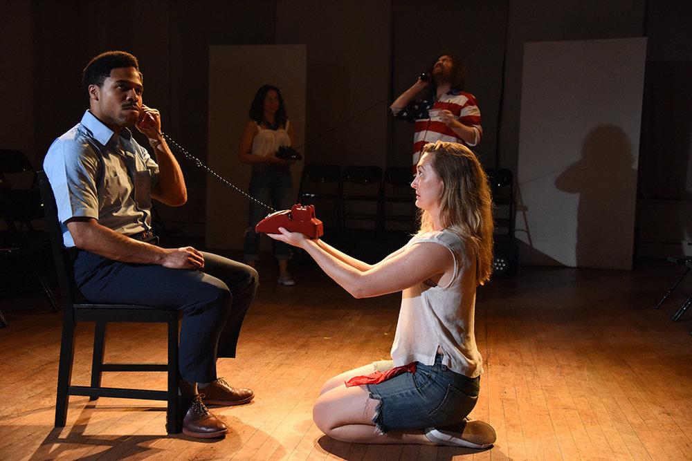 """Darien LaBeach (left), Elena Michelle Adcock (right) in """"The Untold Yippie Project"""""""