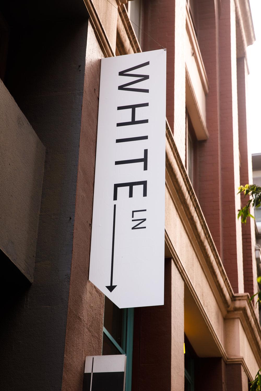 White Lane sign