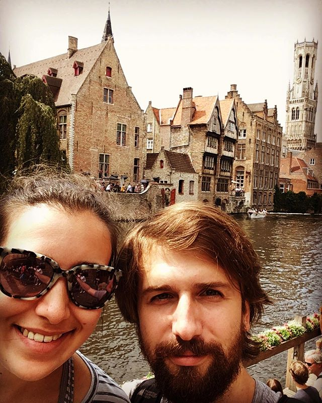 Having a blast in Brugge! View of the bell tower in the distance. #travel #summer #tourism #musicians #residency