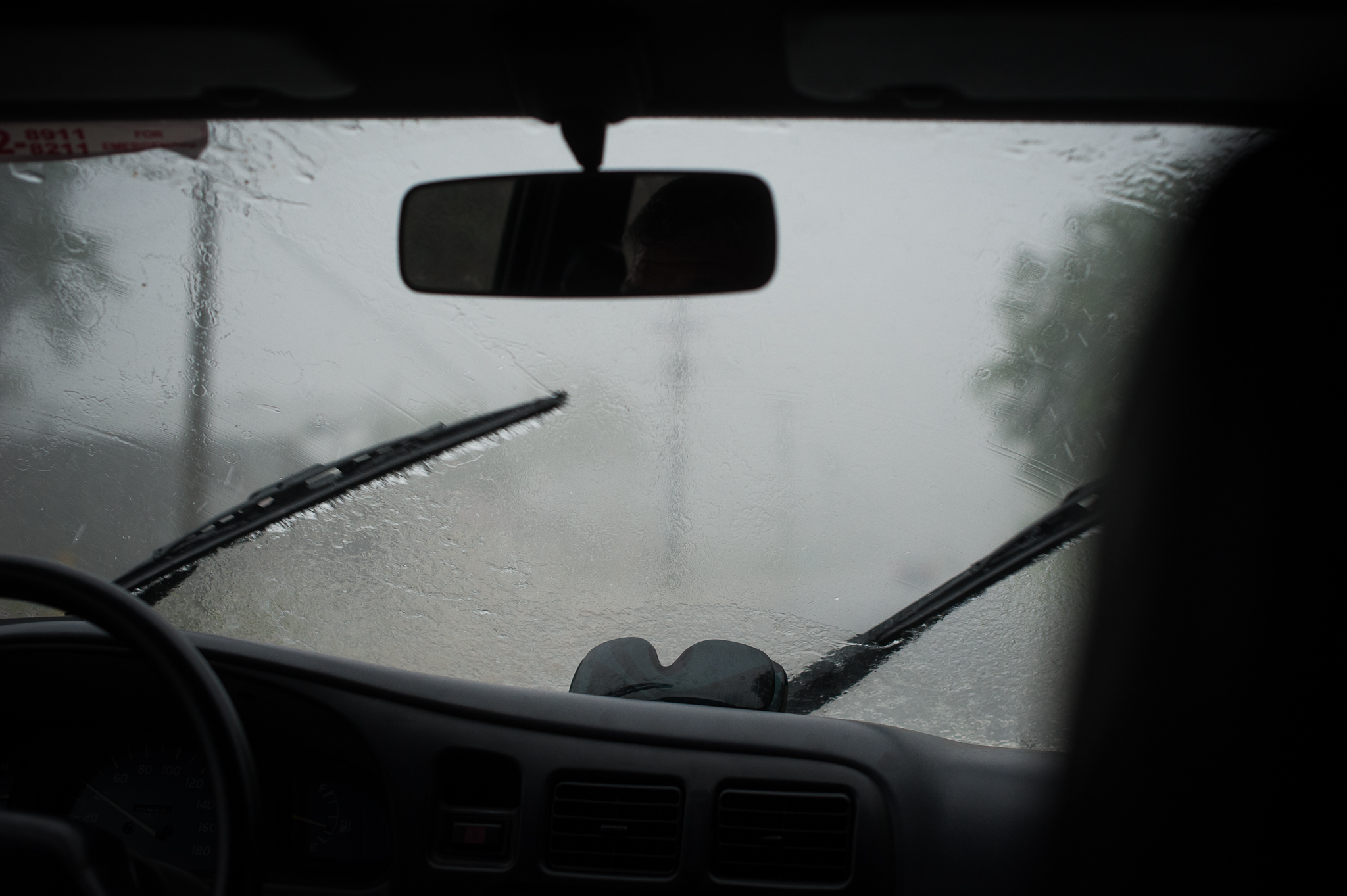 Car rainy season Panama - Research Fieldwork Montreal photographer Alex Tran