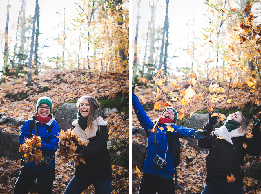 fall-foret-ouareau-chertsey-throwing-leaves