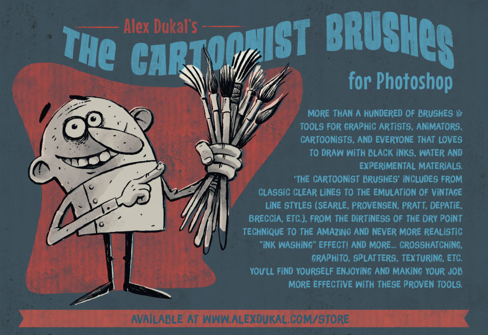 Alex couldn't find the brushes he needed for his illustrations. So he made his own and offered them to other illustrators as well.