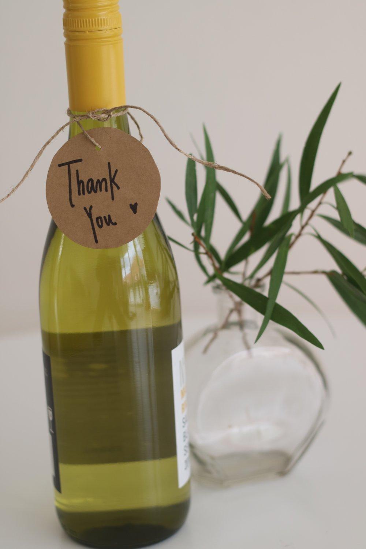 Nothing says thank you like wine
