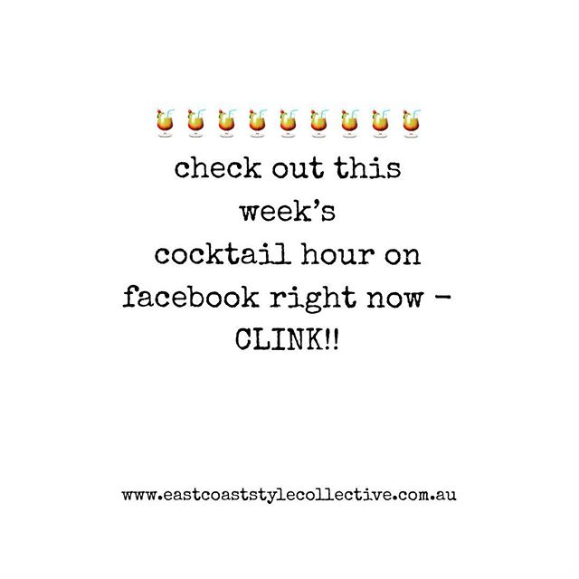 Join us for our Fri-yay cocktail hour on the East Coast facebook page - 🍹 See you there! . . . . #townsvillelocal #townsvillefood #townsville #food #northqueensland #beauty #fashion #events