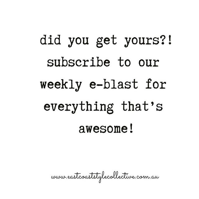 In your inbox - every Fri-yay Subscribe to the East Coast E-blast - link in bio! . . . . #townsvillelocal  #townsvillefood  #townsville  #food  #northqueensland #beauty #fashion #whatson