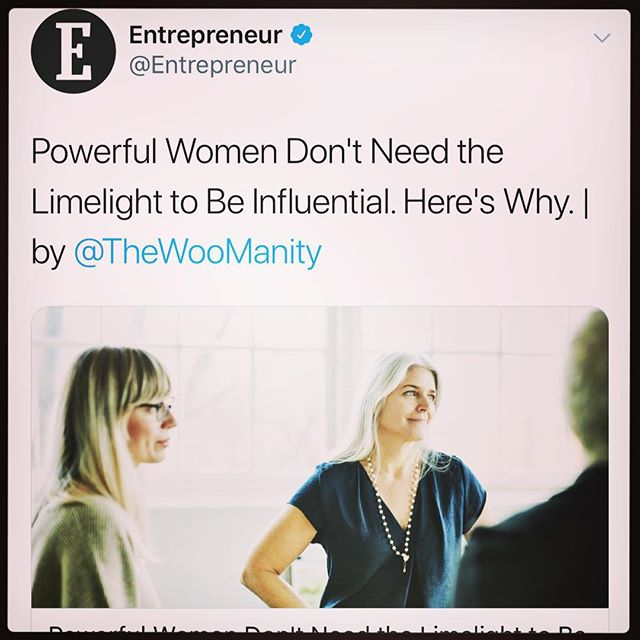 Influence is woo in action.  Use it wisely.  Here's an article you can read up on ways you can use power and influence. New article is up on Entrepreneur. Link in bio!  #woman #bossbabe #wooboss #ladyboss #mamapreneur #mompreneur #woowoo #bosslady #mindset #workingmom #womenwhowork #womenempowerment #womeninspiringwomen