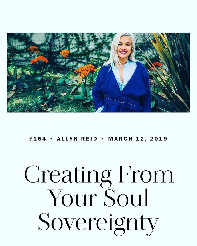 Last week I sat down with Nick Onkin of Nion Radio and riffed on Soul Sovereignty. The state of being where artists, innovators, creatives and entrepreneurs patch into their sweet spot. Will you have a listen?  https://nionlife.com/2019/03/allyn-reid/  #soul #creativity #creativemornings #soulful_moments #soulfood #soulgrowth #womenempowerment #womenwhowork #bossmomlife #momlife #woo