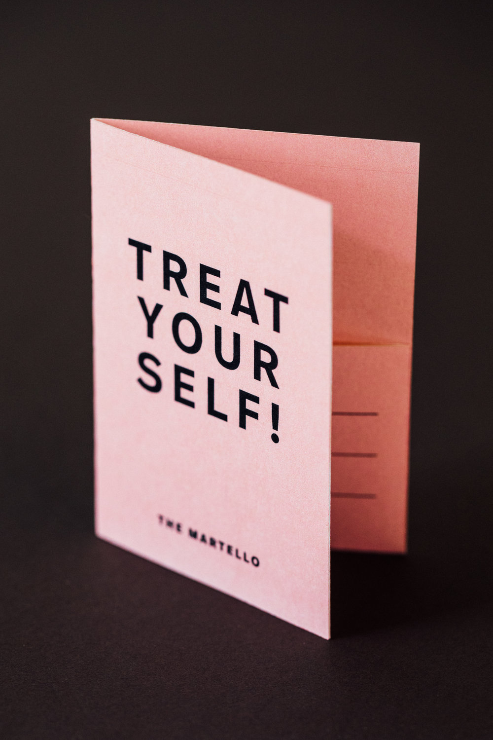 Gift card design for The Martello, by brennan & stevens