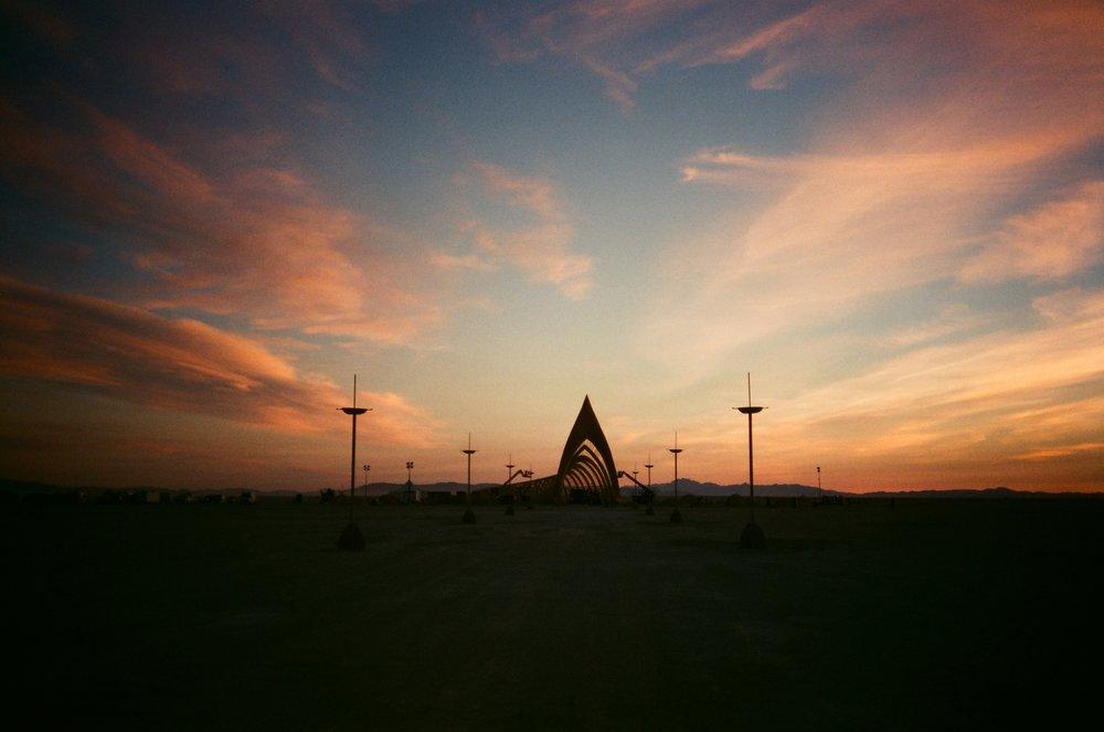 Temple, Burning Man, 2015