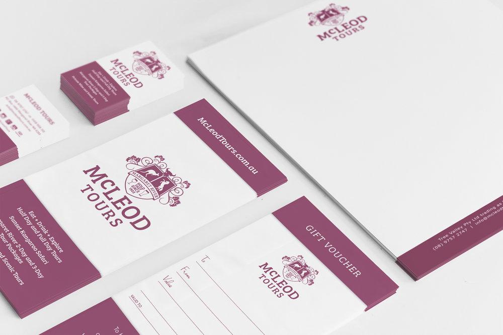 McLeod Tours logo design and branding
