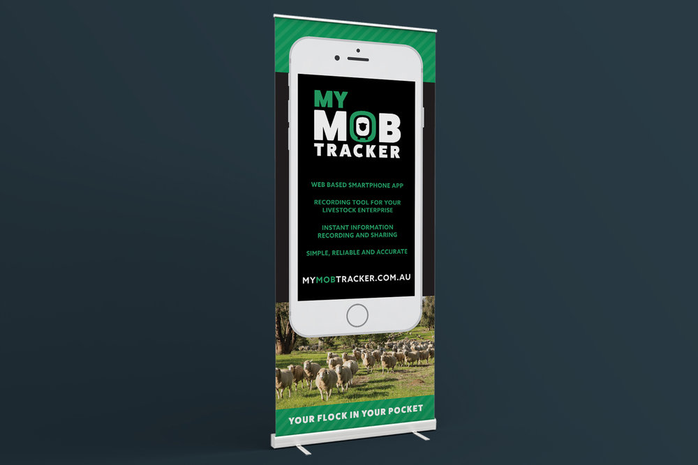 My Mob Tracker logo design and branding