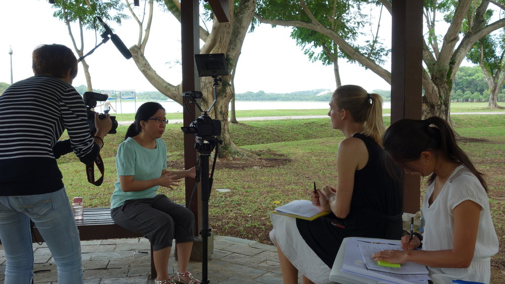 Video Shadowing and Interviewing caregivers in Singapore for the 'Who cares?' project.