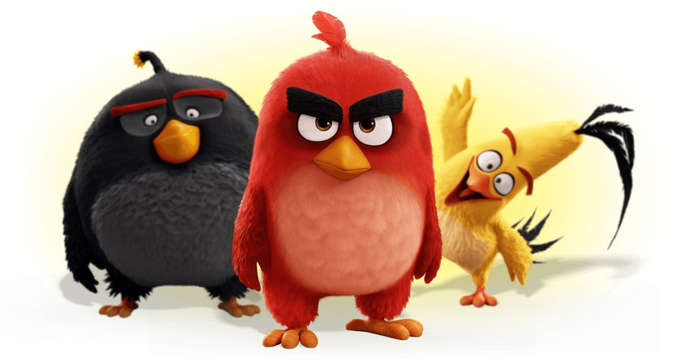 Red, Black and Yellow from the Angry Birds Movie (C) Rovio