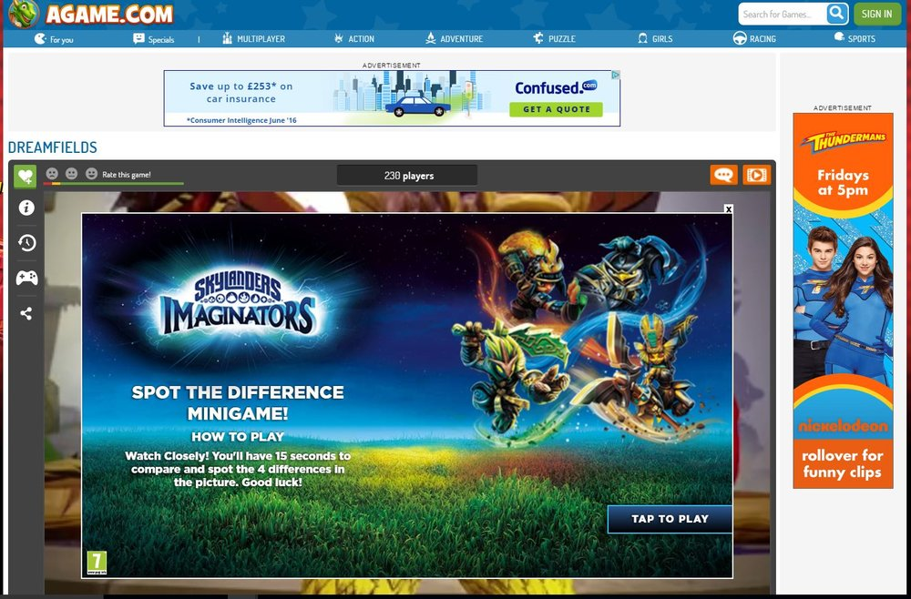 A previous campaign promoting Skylanders (C) Venatus