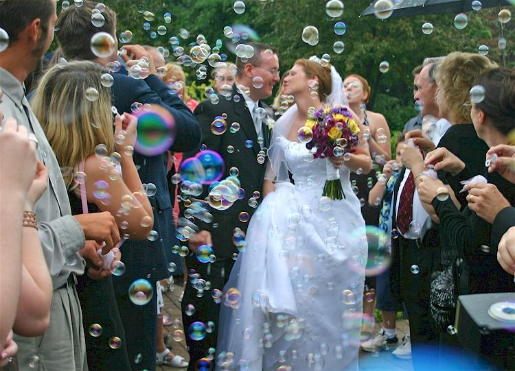 bubbles instead of confetti