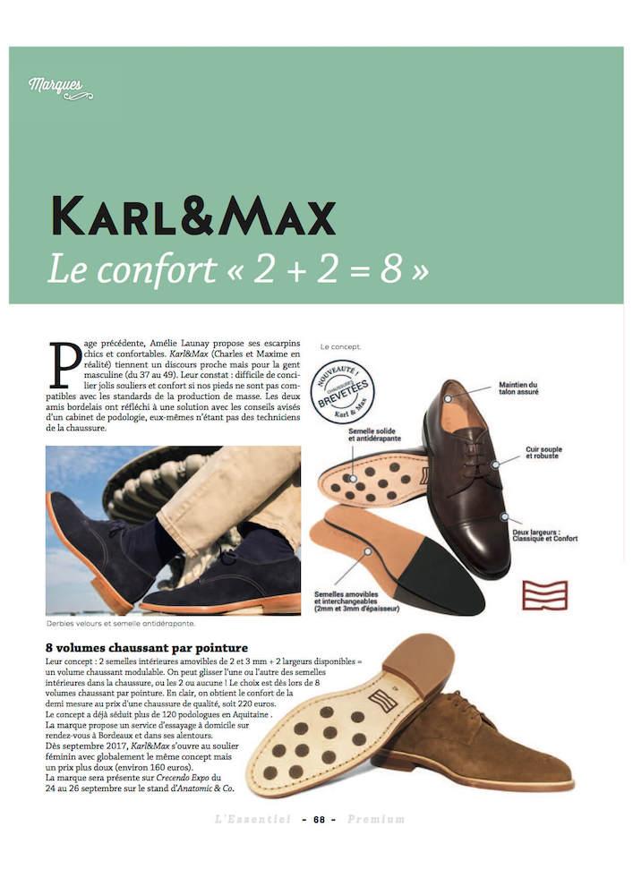 - L'essentiel de la Chaussure,Supplement Premium le 23/08/2017 -