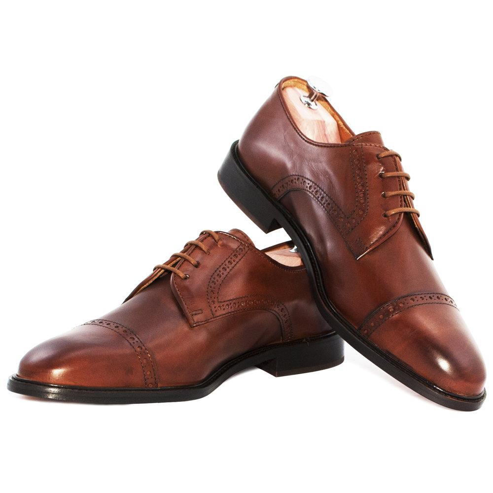 Aldous Cognac - Chaussure de ville hommeCuir Nappa220€