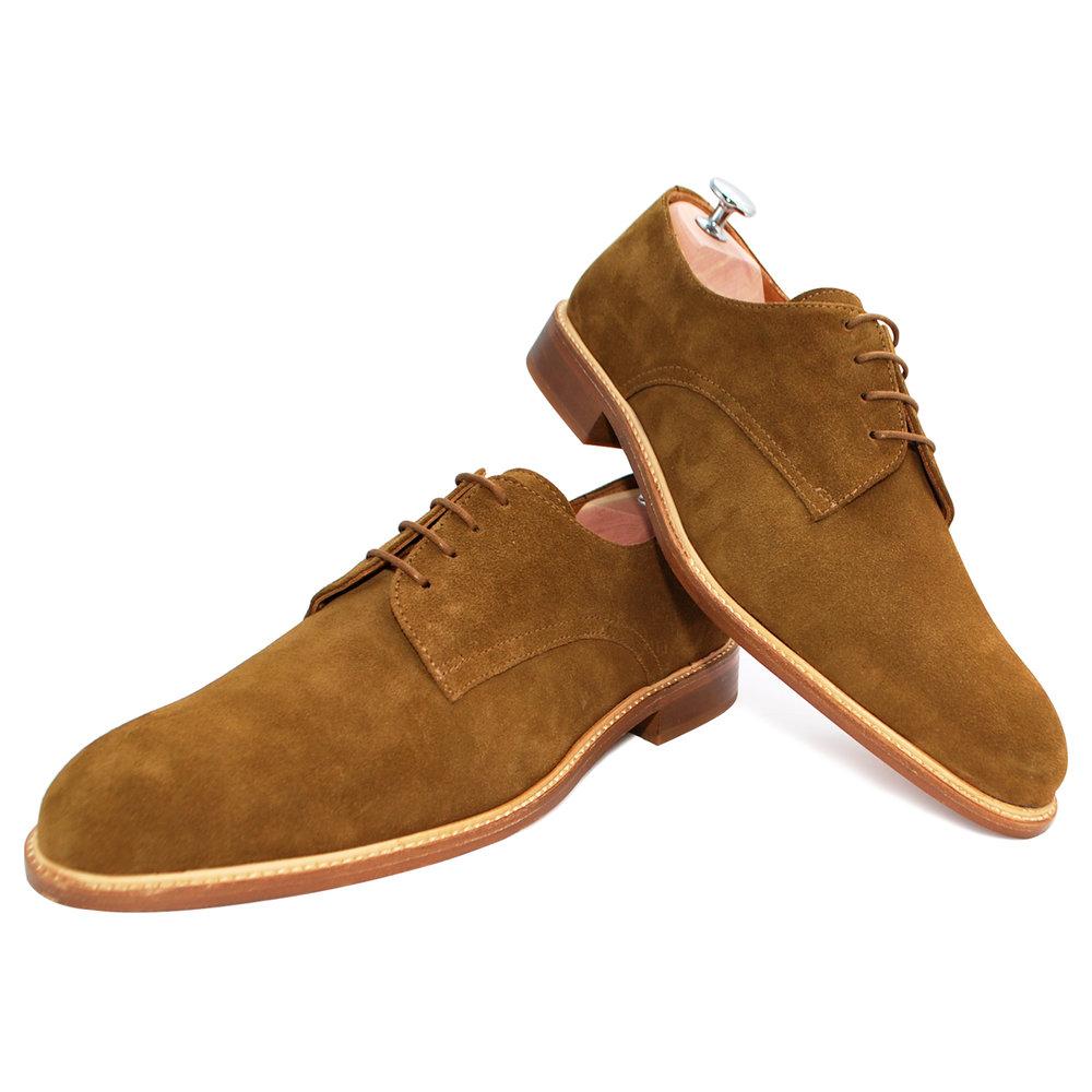 Basilio Cognac - Chaussure de ville hommeCuir Velours220€