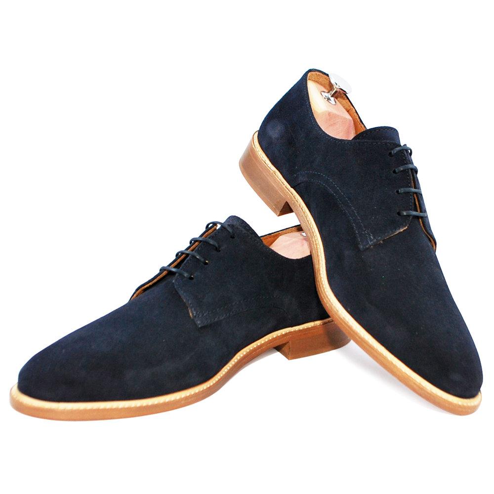 Basilio Marine - Chaussure de ville hommeCuir velours220€