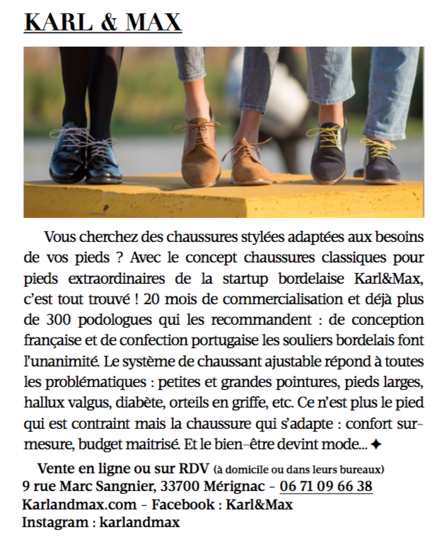 - Madame Figaro, Edition Sud-Ouest, Avril 2018 -
