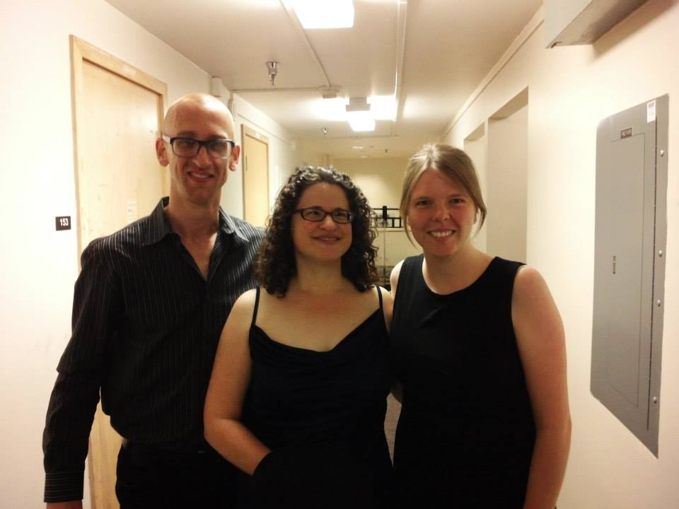 "With Brian McWhorter and Idit Shner of  Beta Collide  after the premiere of ""Miniature March."""