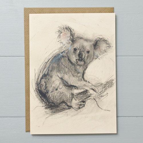 Koala expressive animal greeting card yellow rose design koala expressive animal greeting card m4hsunfo